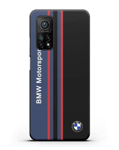 Чехол с надписью BMW Motorsport силикон черный для Xiaomi Mi 10t Pro