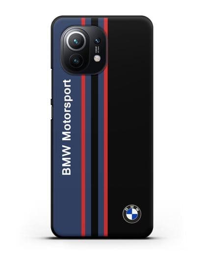 Чехол с надписью BMW Motorsport силикон черный для Xiaomi Mi 11