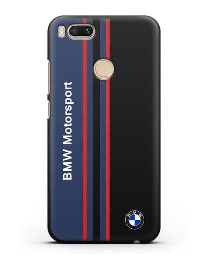 Чехол с надписью BMW Motorsport силикон черный для Xiaomi Mi 5X