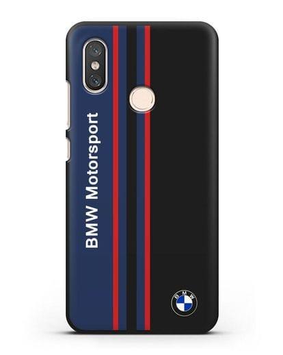 Чехол с надписью BMW Motorsport силикон черный для Xiaomi Mi 8