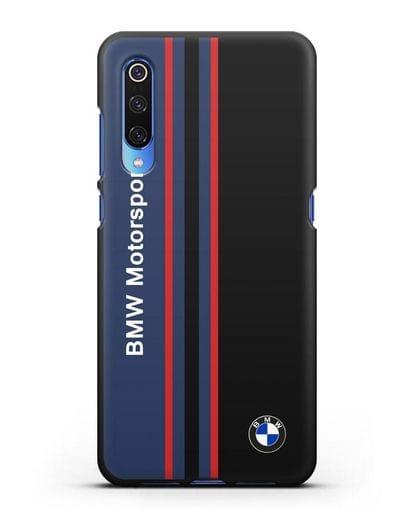 Чехол с надписью BMW Motorsport силикон черный для Xiaomi Mi 9