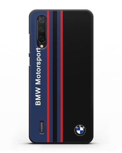 Чехол с надписью BMW Motorsport силикон черный для Xiaomi Mi 9 Lite