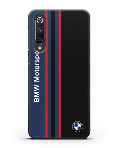 Чехол с надписью BMW Motorsport силикон черный для Xiaomi Mi 9 SE