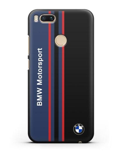 Чехол с надписью BMW Motorsport силикон черный для Xiaomi Mi A1