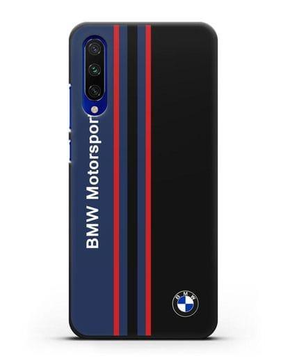 Чехол с надписью BMW Motorsport силикон черный для Xiaomi Mi A3