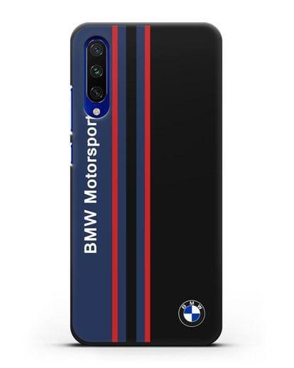 Чехол с надписью BMW Motorsport силикон черный для Xiaomi Mi CC9 E