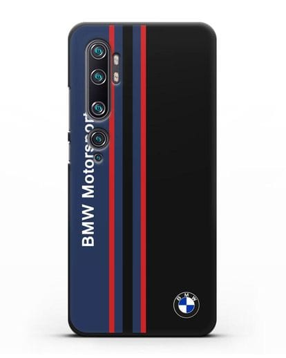 Чехол с надписью BMW Motorsport силикон черный для Xiaomi Mi Note 10 Pro
