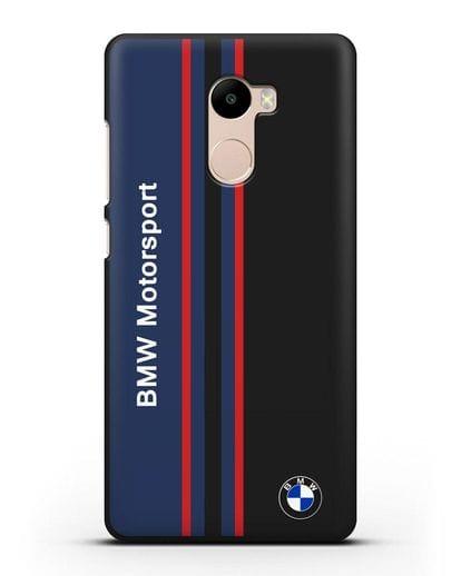 Чехол с надписью BMW Motorsport силикон черный для Xiaomi Redmi 4