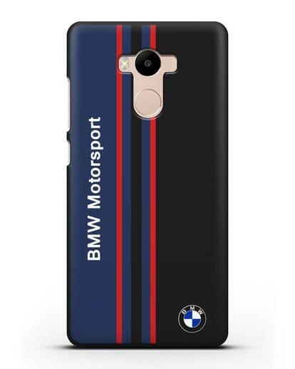 Чехол с надписью BMW Motorsport силикон черный для Xiaomi Redmi 4 Pro