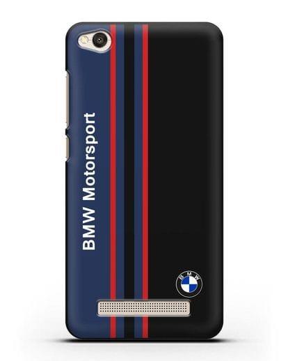 Чехол с надписью BMW Motorsport силикон черный для Xiaomi Redmi 4A
