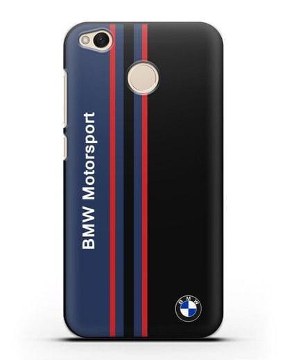 Чехол с надписью BMW Motorsport силикон черный для Xiaomi Redmi 4X