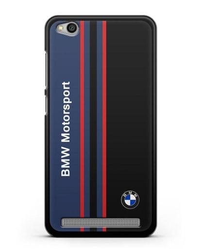 Чехол с надписью BMW Motorsport силикон черный для Xiaomi Redmi 5A
