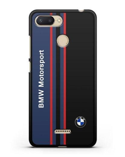 Чехол с надписью BMW Motorsport силикон черный для Xiaomi Redmi 6