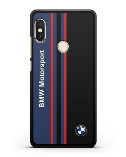 Чехол с надписью BMW Motorsport силикон черный для Xiaomi Redmi 6 Pro