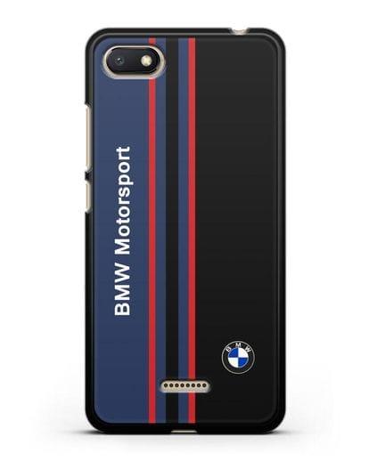 Чехол с надписью BMW Motorsport силикон черный для Xiaomi Redmi 6A