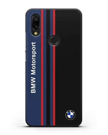 Чехол с надписью BMW Motorsport силикон черный для Xiaomi Redmi 7