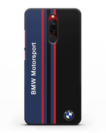 Чехол с надписью BMW Motorsport силикон черный для Xiaomi Redmi 8