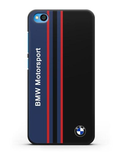 Чехол с надписью BMW Motorsport силикон черный для Xiaomi Redmi Go