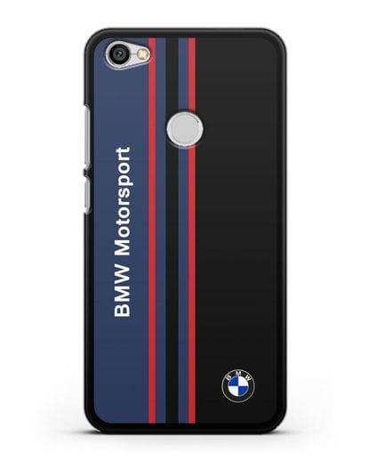 Чехол с надписью BMW Motorsport силикон черный для Xiaomi Redmi Note 5A Prime