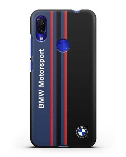 Чехол с надписью BMW Motorsport силикон черный для Xiaomi Redmi Note 7
