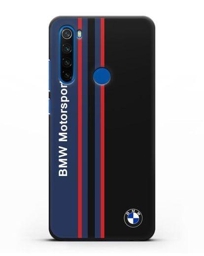 Чехол с надписью BMW Motorsport силикон черный для Xiaomi Redmi Note 8T