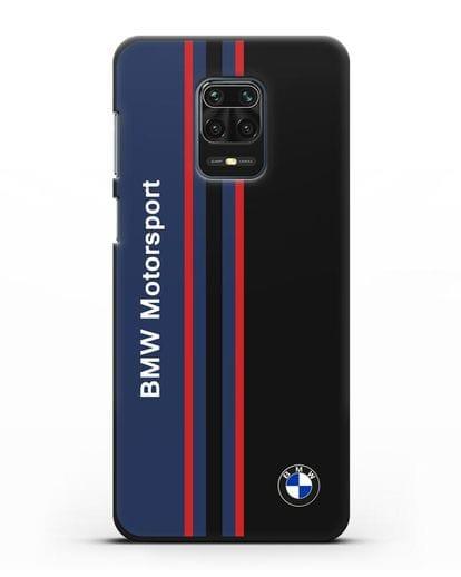 Чехол с надписью BMW Motorsport силикон черный для Xiaomi Redmi Note 9 Pro