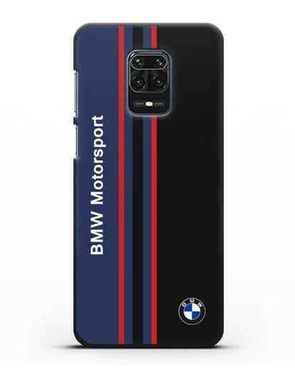 Чехол с надписью BMW Motorsport силикон черный для Xiaomi Redmi Note 9S