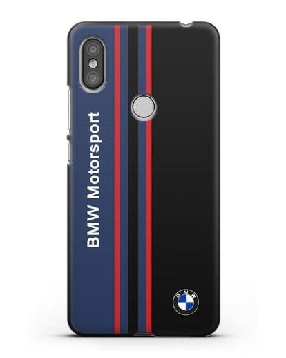 Чехол с надписью BMW Motorsport силикон черный для Xiaomi Redmi S2