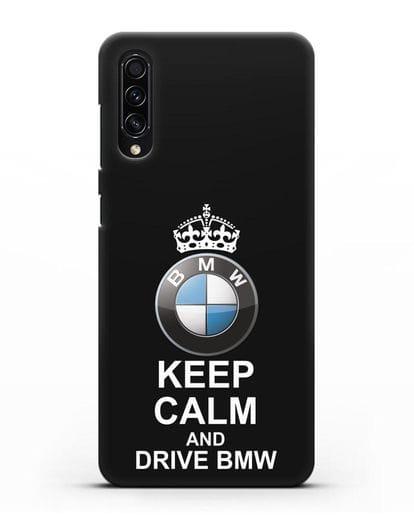 Чехол с надписью Keep Calm and Drive BMW силикон черный для Samsung Galaxy A50s [SM-F507FN]