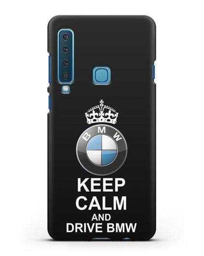 Чехол с надписью Keep Calm and Drive BMW силикон черный для Samsung Galaxy A9 (2018) [SM-A920]
