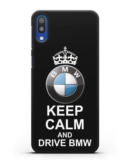 Чехол с надписью Keep Calm and Drive BMW силикон черный для Samsung Galaxy M10 [SM-M105F]