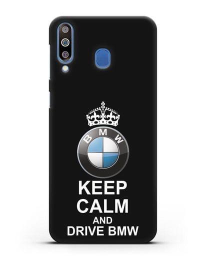 Чехол с надписью Keep Calm and Drive BMW силикон черный для Samsung Galaxy M30 [SM-M305F]
