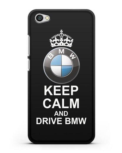 Чехол с надписью Keep Calm and Drive BMW силикон черный для Xiaomi Redmi Note 5A