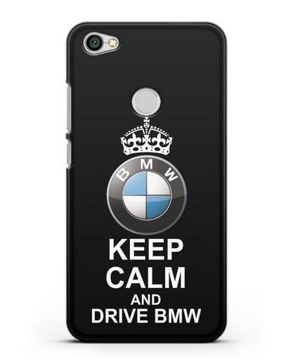 Чехол с надписью Keep Calm and Drive BMW силикон черный для Xiaomi Redmi Note 5A Prime