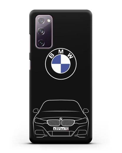 Чехол BMW 3 с автомобильным номером силикон черный для Samsung Galaxy S20 FE [SM-G780F]
