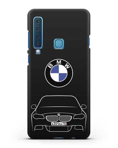 Чехол BMW 5 с автомобильным номером силикон черный для Samsung Galaxy A9 (2018) [SM-A920]
