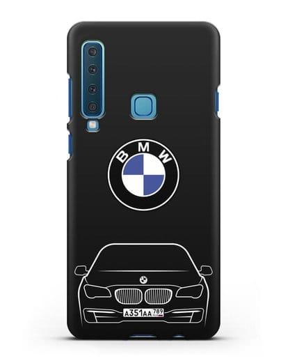 Чехол BMW 7 с автомобильным номером силикон черный для Samsung Galaxy A9 (2018) [SM-A920]