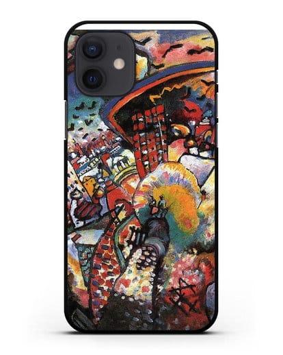 Чехол Москва. Красная площадь (Кандинский Василий) силикон черный для iPhone 12