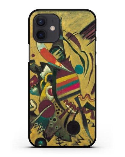 Чехол Точки (Кандинский Василий) силикон черный для iPhone 12