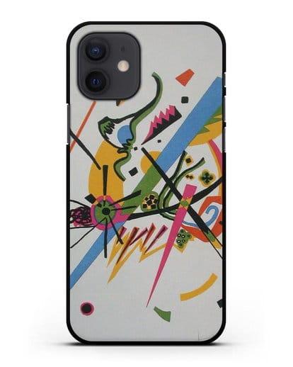 Чехол Маленькие миры (Кандинский Василий) силикон черный для iPhone 12