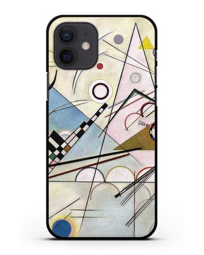 Чехол Композиция 8 (Кандинский Василий) силикон черный для iPhone 12