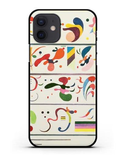 Чехол Последовательность (Кандинский Василий) силикон черный для iPhone 12