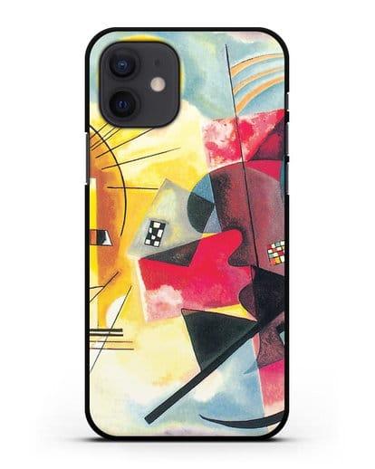 Чехол Желто-красно-синий (Кандинский Василий) силикон черный для iPhone 12