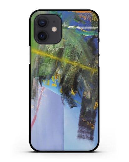 Чехол Облака (Рихтер Герхард) силикон черный для iPhone 12