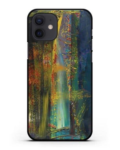 Чехол Абстрактная картина 599 (Рихтер Герхард) силикон черный для iPhone 12