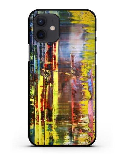 Чехол Абстрактная картина 780-1 (Рихтер Герхард) силикон черный для iPhone 12