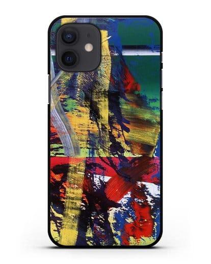 Чехол Станция (Рихтер Герхард) силикон черный для iPhone 12