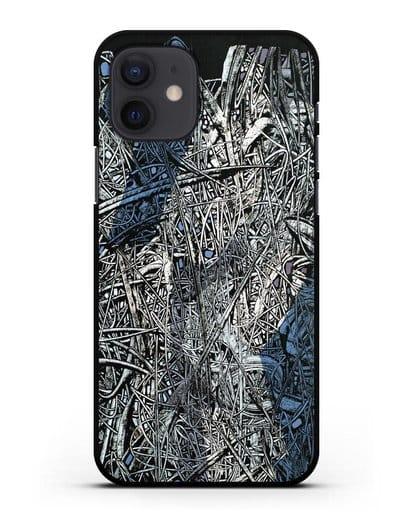 Чехол Абстрактная композиция (Марчук Иван) силикон черный для iPhone 12