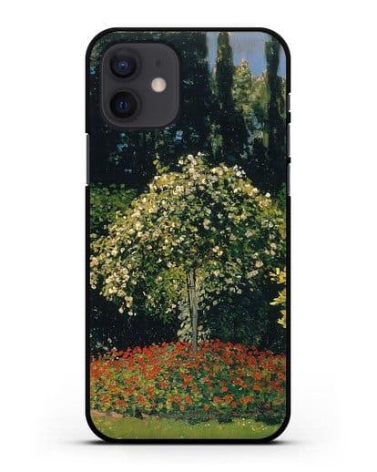 Чехол Дама в саду Сент-Андесс (Моне Клод) силикон черный для iPhone 12