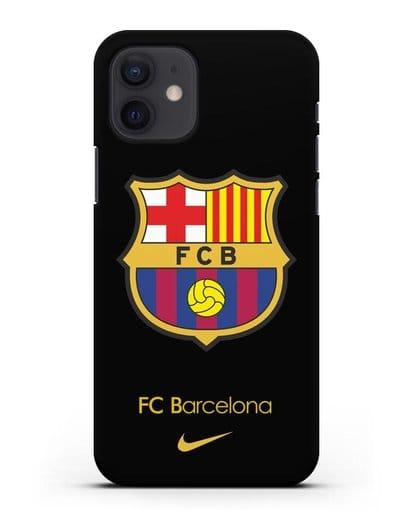 Чехол Барселона с логотипом Nike силикон черный для iPhone 12